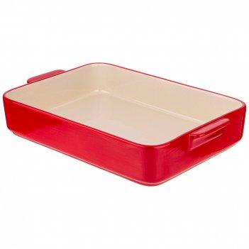 Блюдо для запекания и выпечки прямоуг. 35*24*6 см красное без декора