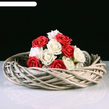 Кашпо «кольцо», 40x8 см, ива