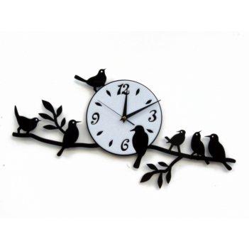 Часы птицы на ветвях  cl106 52х26см