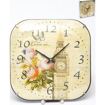 Часы настенные квадратные home art 26x26 см