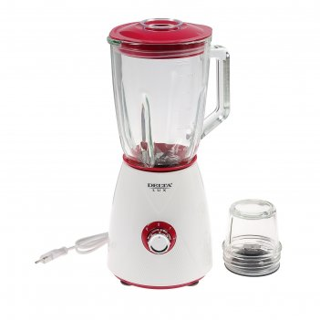Блендер delta lux dl-7314, 600 вт, 1.5 л, кофемолка, бело-розовый