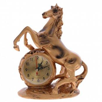 Часы настольные декоративные лошадь, l17 w9,5 h21 см, (1хаа не прилаг.)