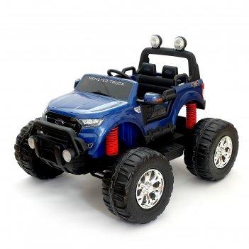 Электромобиль ford ranger, 4wd полный привод, глянец синий, монитор