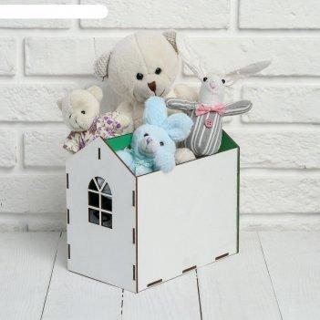 Ящик «домик», 12,5 х 19,2 х 20 см