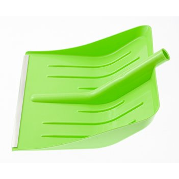 Лопата для уборки снега пластиковая, зеленая, 400х420 мм, без черенка, рос
