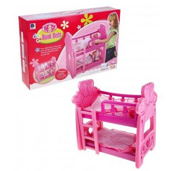Кроватка для куклы, двухъярусная