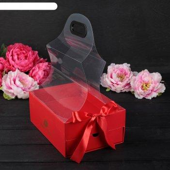 Коробка для цветов, 25 х 18 х 10,5 см