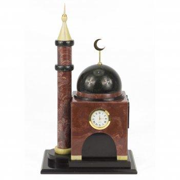 Часы мечеть малая лемезит долерит 200х150х345 мм 5500 гр.