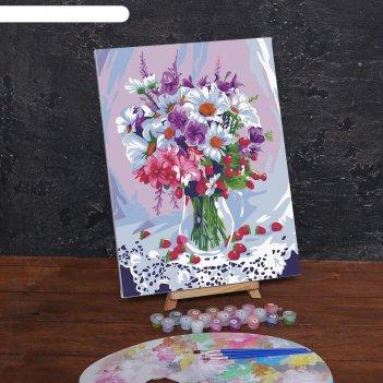 Картина по номерам на холсте с подрамником «весенний букет», 40х30 см