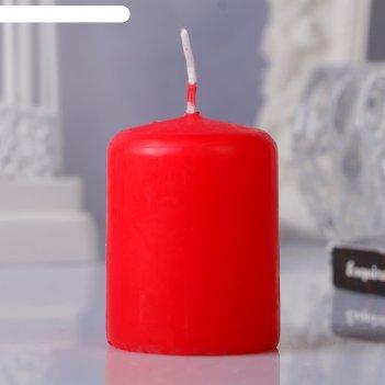 Свеча пеньковая, 4х5см, красная
