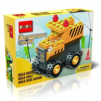 Конструктор грузовик для стройки, 36 деталей  banbao (банбао)