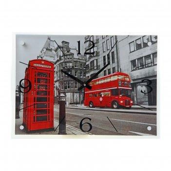 Часы настенные прямоугольные лондон, 40х56 см