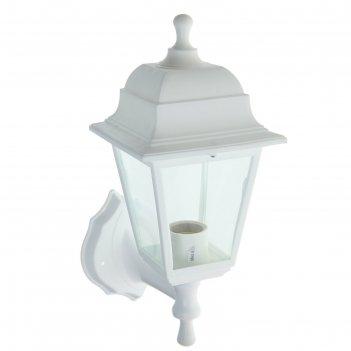 Светильник садово-парковый нбу 04-60-001, настенный, четырехгранник, белый