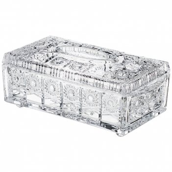 Салфетница muza crystal 24,5*12,5 см. высота=10 см.