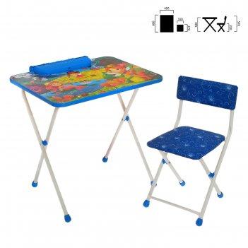 Набор мебели маленькие принцессы:стол, стул мягкий моющийся складной. микс