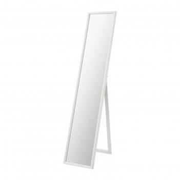 Зеркало напольное, цвет белый флакнан