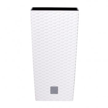Кашпо для цветов prosperplast rato square 11+26,6л, белый