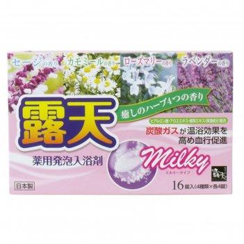 Молочная соль для ванны на основе углекислого газа fuso kagaku milky с усп