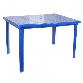 Стол прямоугольный, размер 120 х 85 х 75 см, цвет синий