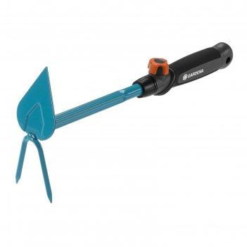Мотыжка комбинированная, длина 37 см, 2 зубца, пластиковая ручка