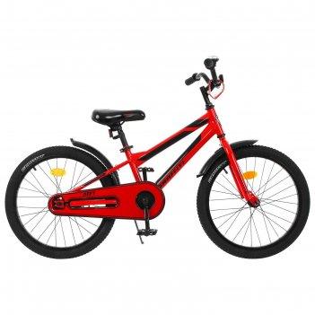 Велосипед 20 graffiti deft, цвет красный/чёрный