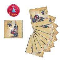 Салфетки бумажные (набор 20 шт) 33*33 см рай для сомелье