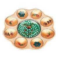 Тарелка для яиц русские узоры диаметр=19 см.ручн...