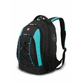 Рюкзак wenger цв. черный/синий, полиэстер 900d, 33х19х45 см