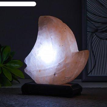 Соляной светильник  кораблик led (диод белый) usb гималайская соль 9х7х10