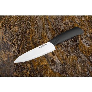 Нож кухонный шеф 145 мм, белая циркониевая керамика samura eco ceramic