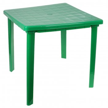 Стол квадратный, размер 80 х 80 х 74 см, цвет зелёный