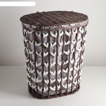 Корзина для белья плетеная овальная розы 42*30*49 см
