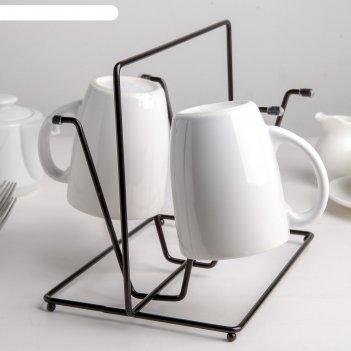 Сушилка для стакановлофт 24,5х16х19,8 см, цвет черный