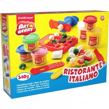 Пластилин на растительной основе ristorante italiano 2бан*100г, 4 бан*35г,