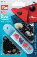 Непришивные кнопки anorak (латунь) черный цв. 15 мм