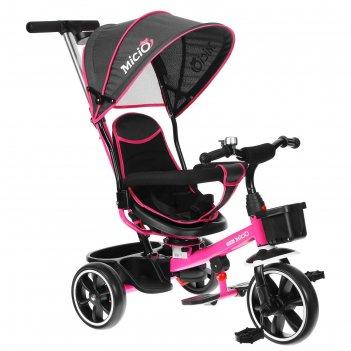 Велосипед трехколесный micio veloce, колеса eva 10/8, цвет розовый