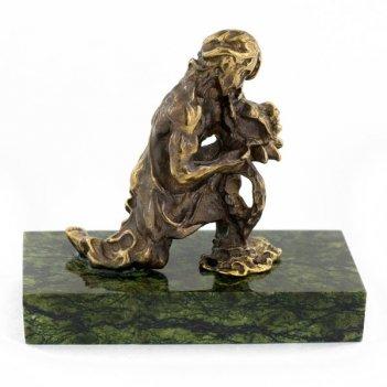Статуэтка знак зодиака водолей бронза змеевик