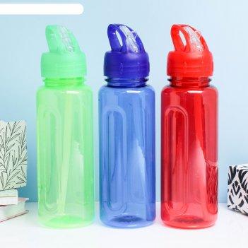 Бутылка для воды 650мл, микс 7*7*25см