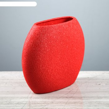 Ваза классика шёлк красная