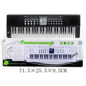 Синтезатор черн. 54 клав., микроф., 12 мелод