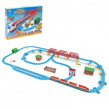 Железная дорога «экспресс», работает от батареек, длина пути 7,57 м, свето