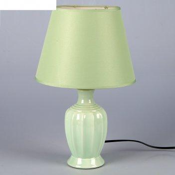 Лампа настольная грета зеленый 1x40w e14 22,5x22,5x34,5 см