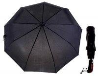 Зонт мужской автомат, ручка комбинированная, цвет черный