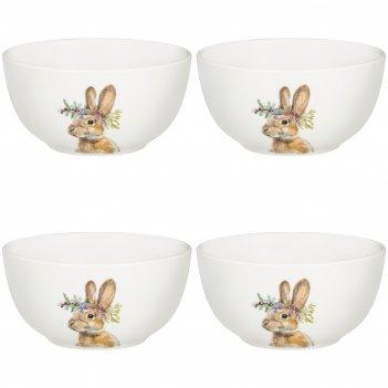 Набор из 4-х салатников lefard лесная сказка заяц 15*7,6 см