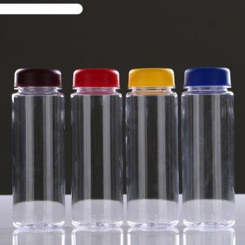 Бутылка для воды 500 мл питьевая, микс, 6х19 см