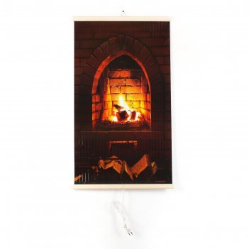 Обогреватель тепло крыма 448/2 каменный камин, инфракрасный, 400 вт, 1000х