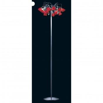 Торшер el325f052 rosa 4x40w g9 красный 40x40x155 см