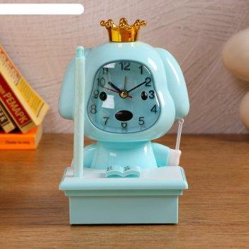 Часы-будильник с подсветкой, с ручкой, циферблат 6.6х6.5, 1 аа, дискретный