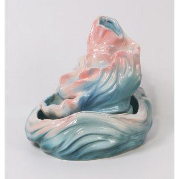 Настольный фонтан «синрей» розово-голубой