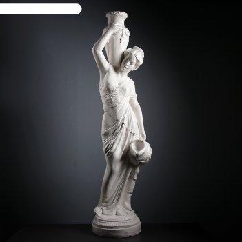 Фигура девушка с кувшином большая, белый 140см